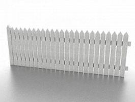 White picket fence 3d model