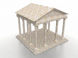 Romanesque gazebo 3d model