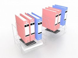 Binder storage racks 3d model
