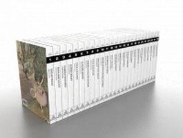 Organized books 3d model