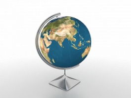 Educational world globe 3d model