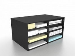 Desktop file holder 3d model