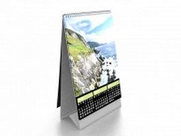 Paper desk calendar 3d model