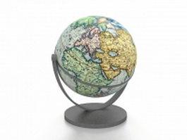 Educational globe 3d model