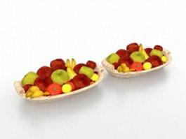 Fresh fruit platter 3d model