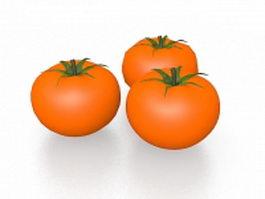 Three tomatoes 3d model