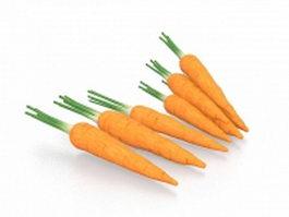 Harvested carrots 3d model