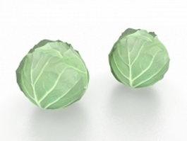 Cabbage vegetable 3d model