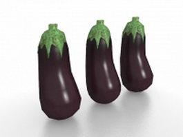 Japanese eggplant 3d model