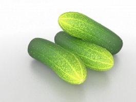 Lebanese cucumber 3d model