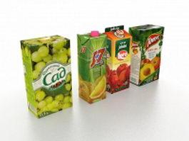 Juice package 3d model