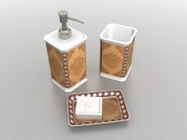 Luxury bathroom accessories sets 3d model