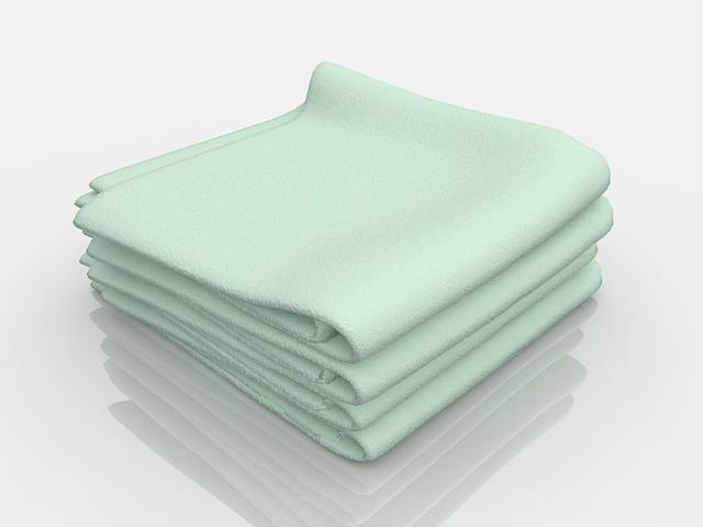 Bathroom bath towel sets 3d model 3ds max files free download ...