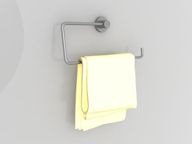 bathroom towel holder 3d model - Bathroom Towel Holder