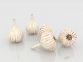 Garlic bulbs 3d model