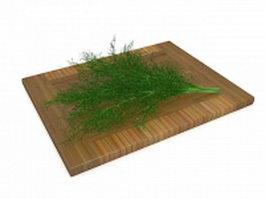 Fennel leaf vegetable 3d model