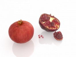 Pomegranate fruit 3d model