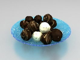 Chocolate cream balls 3d model