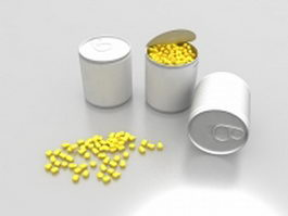 Canned sweet corn 3d model