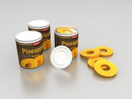 Canned pineapple 3d model