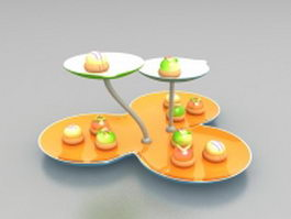 Wonderful cream candy 3d model