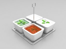 Vegetable broth soup 3d model