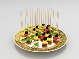 Japanese food sticks 3d model