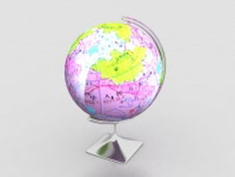 Desktop world globe 3d model
