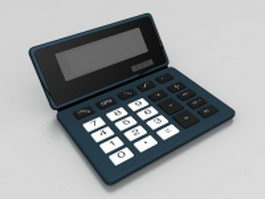 Big button calculator 3d model