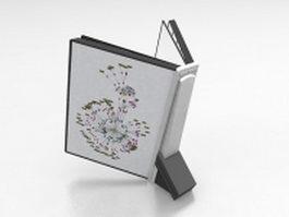 Reading book holder 3d model