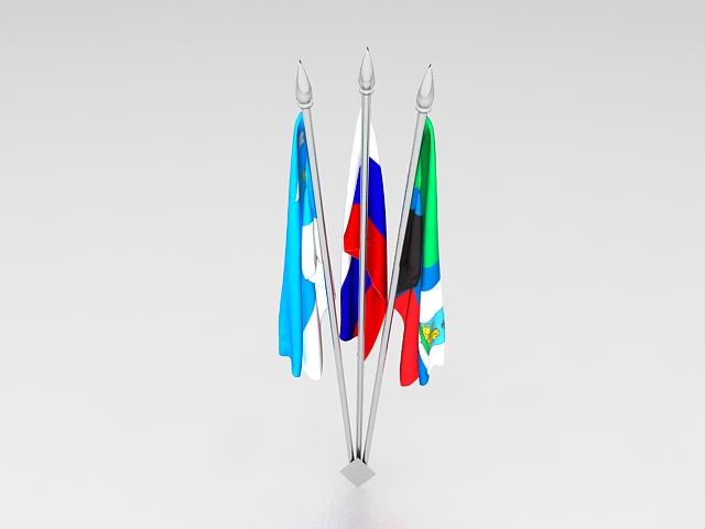 Desktop Flag Holders 3d Model 3ds Max Files Free Download