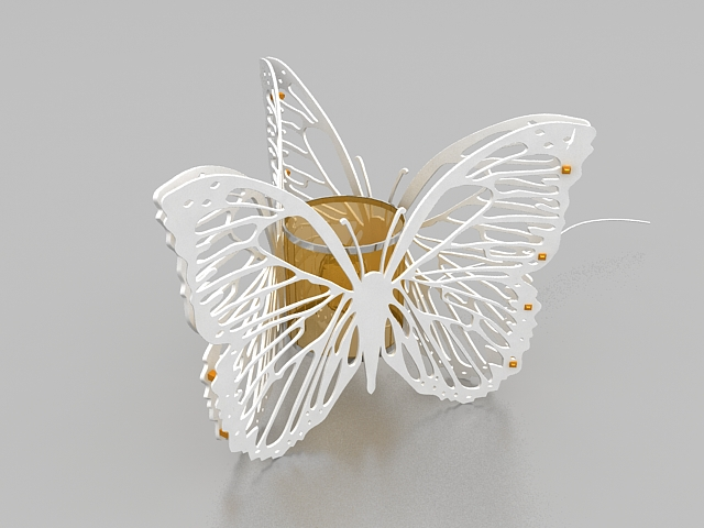 butterfly table lamp 3d model 3ds max files free download