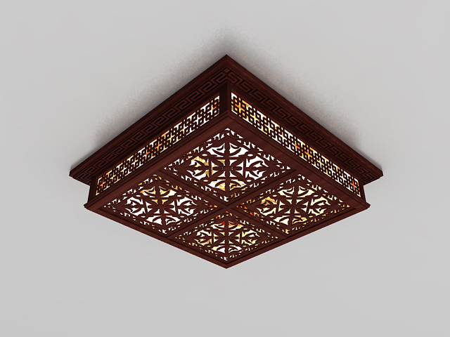 Chinese Style Ceiling Light 3d Model 3ds Max Files Free