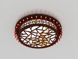 Antique Chinese ceiling lights 3d preview