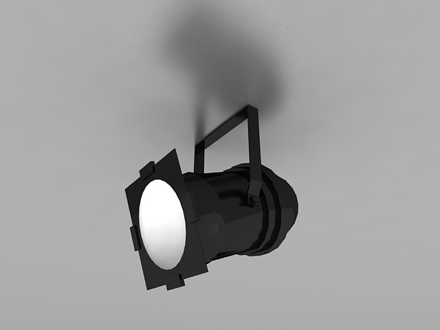Ceiling Mounted Spotlight 3d Model 3ds Max Files Free
