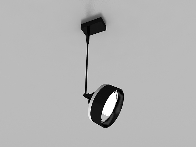 Pendant Spotlight Fixture 3d Model 3ds Max Files Free