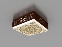 Japanese style ceiling light 3d model
