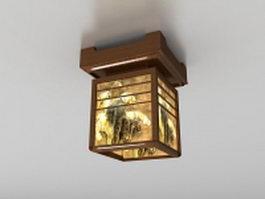 Square ceiling light fixture 3d model