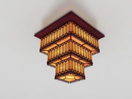 3 Tier pendant light 3d model