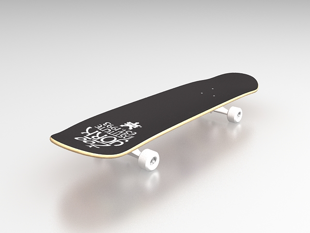Longboard Skateboard 3d Model 3ds Max Files Free Download