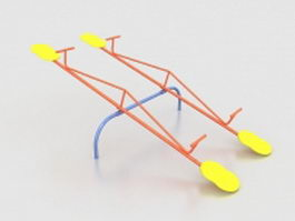 Set of playground seesaws 3d model