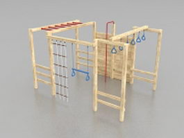 School playground equipment 3d model