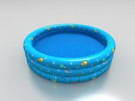 Inflatable above ground pool 3d model