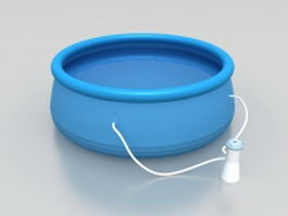 Inflatable above ground swimming pool 3d model