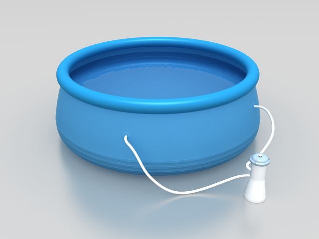 Inflatable above ground swimming pool 3d model 3ds max for 3d pool design online free