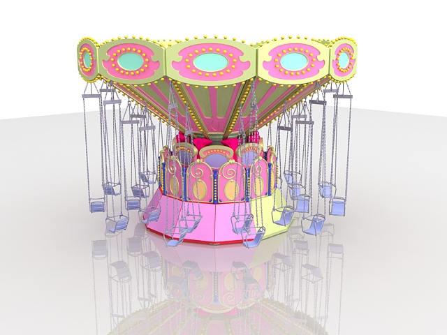 Amusement park ride flying scooter 3d model 3D Studio files free