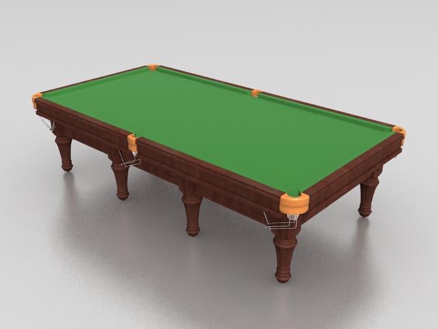 Snooker pool table 3d rendering