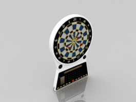 Electronic dart board 3d model
