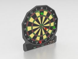 Old electronic dart board 3d model