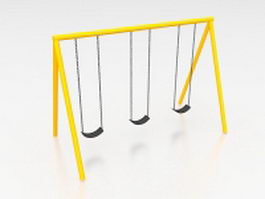 School playground swing sets 3d model